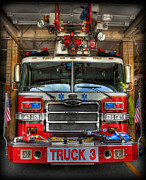 Fire Engine Framed Prints - Fireman - Fire Engine Framed Print by Lee Dos Santos