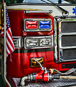Paul Ward Metal Prints - Fireman - Fire Engine Metal Print by Paul Ward