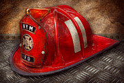 Diamond Metal Prints - Fireman - Hat - A childhood dream Metal Print by Mike Savad
