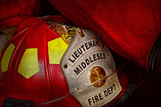 Helmet Photo Metal Prints - Fireman - Hat - Everyone loves red Metal Print by Mike Savad