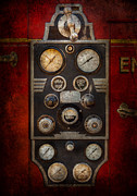 Controls Framed Prints - Fireman - Keep an eye on the pressure  Framed Print by Mike Savad
