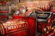 Firetruck Posters - Fireman - Mastic chemical co Poster by Mike Savad