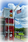 Fire Equipment Framed Prints - Fireman - Proudly They Serve Framed Print by Paul Ward