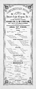 Wines Photos - Firemen Dinner Menu - San Francisco - 1856 by Daniel Hagerman