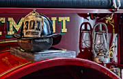 Pick Axe Prints - Firemen - Fire Helmet Lieutenant Print by Paul Ward