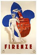 Firenze Posters - Firenze 1935 Poster by Nomad Art And  Design