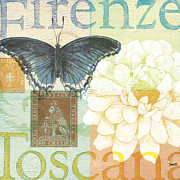 Butterflies Painting Prints - Firenze Print by Debbie DeWitt