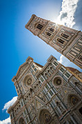 Florence Framed Prints - Firenze Duomo Sunburst Framed Print by Inge Johnsson