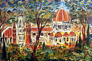 Toscana Paintings - Firenze La Bella by Roberto Gagliardi