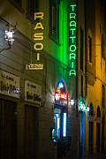 Tuscan Posters - Firenze Neon Poster by Inge Johnsson