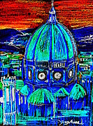 Featured Jewelry Metal Prints - Firenze Santa Maria del Fiore Metal Print by Roberto Gagliardi