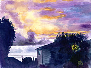 Moody Paintings - FireSkies by Ken Meyer jr