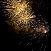 Fireworks 20 Print by Sandy Swanson