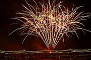 July 4th Photo Posters - Fireworks at Tempe Town Lake  Poster by Saija  Lehtonen