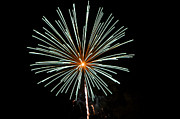 Fireworks Bursts Colors And Shapes 2 Print by SC Heffner