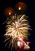 Pyrotechnics Photo Prints - Fireworks Print by Elena Elisseeva