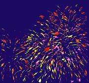 Fireworks Print by Elizabeth Blair-Nussbaum