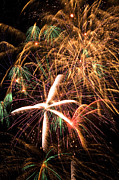 Independence Day Metal Prints - Fireworks exploding everywhere Metal Print by Garry Gay
