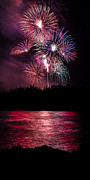 Fireworks In The Country - Pink Print by Justin Martinez