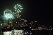 Royal Australian Navy Prints - Fireworks - Navy Centenary. Print by Geoff Childs
