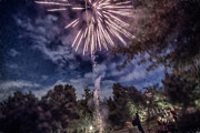 4th July Digital Art Prints - Fireworks On The 4th Of July 2013 Print by J Riley Johnson