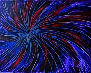 Fireworks Paintings - Fireworks One by Evelyn SPATZ