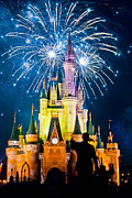 Orlando Magic Photos - Fireworks Over Cinderellas Castle by Jonathan Virgie