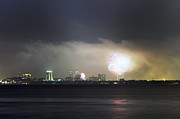 Eve Photo Originals - Fireworks Over Tampa Bay by William Ragan