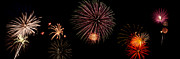 4th July Digital Art Framed Prints - Fireworks Panorama Framed Print by Bill Cannon