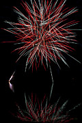 Glare Posters - Fireworks Rockets Red Glare Poster by Christina Rollo