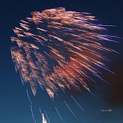 Fourth Of July Art Prints - Fireworks Series I Print by Suzanne Gaff