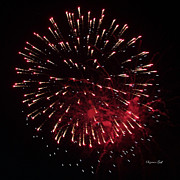Fourth Of July Art Prints - Fireworks Series IX Print by Suzanne Gaff