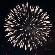 Fireworks Series X Print by Suzanne Gaff
