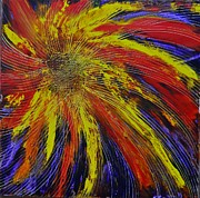 Fireworks Paintings - Fireworks Three by Evelyn SPATZ