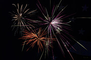 Fire Works Prints - Fireworks With Pride Print by Christina Rollo