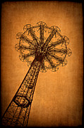 Amusement Ride Framed Prints - Firey Inspiration Framed Print by Evelina Kremsdorf