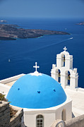Thira Framed Prints - Firostefani church 01 Framed Print by Antony McAulay
