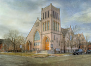 Church Architecture Posters - First Avenue Presbyterian Church  Poster by Juli Scalzi