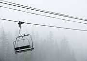 Precipitation Originals - First Chair in the Storm by Adam Pender