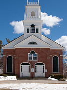 Monadnock Region Posters - First Church Jaffrey Congregational Poster by John Poltrack