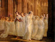 Dresses Digital Art - First Communion by Anne Francois Janmot