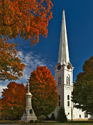 Manchester Vermont Prints - First Congregational Church of Manchester Print by Charles Kozierok