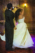 First Couple Paintings - First Dance by Angela A Stanton