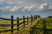 Split Rail Fence Photos - First Fence by Pat Scanlon
