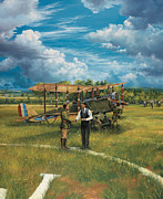 Aviation Mixed Media - First Landing At Shepherds Field by Randy Green