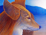 Coyote Paintings - First Light by Brian  Commerford
