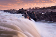 Metro Park Metal Prints - First Light Great Falls Metal Print by Mark VanDyke