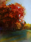 Oak Trees Paintings - First Light by Kris Parins
