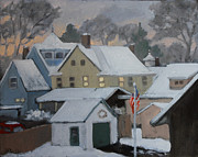 Saugerties Painting Prints - First Light  Print by Nancy Campbell