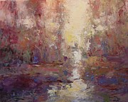 First Light On The Tule River Print by R W Goetting
